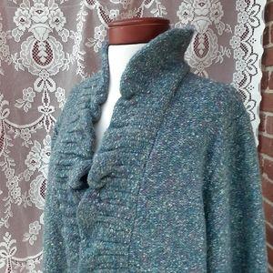 Ruby Rd. Chunky Knit Open Cardigan Sweater Curvy